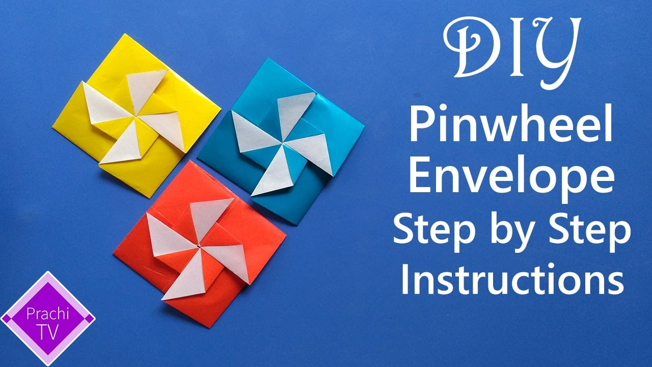 How To Make An Pinwheel Envelope Origami With A Square Piece Of Paper