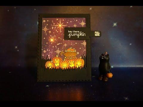 How to make Light Up Newton's Halloween Card