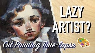 Lazy Artist? 🤷🏻♀️ Oil Painting Time-lapse + Chat!🎨