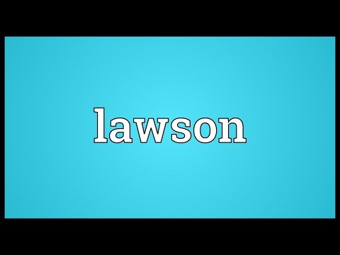 Lawson Meaning