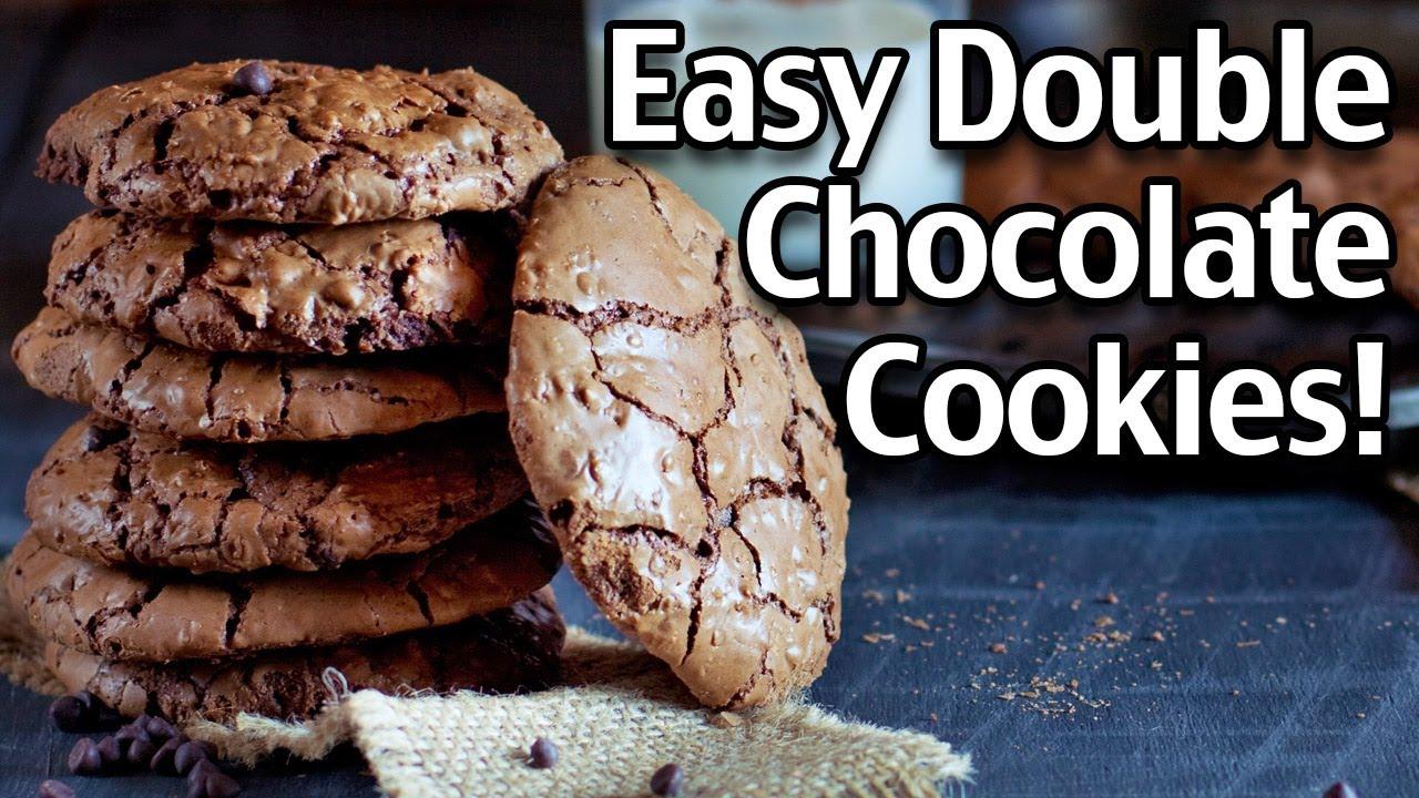 Easy Double Chocolate Cookies Recipe!