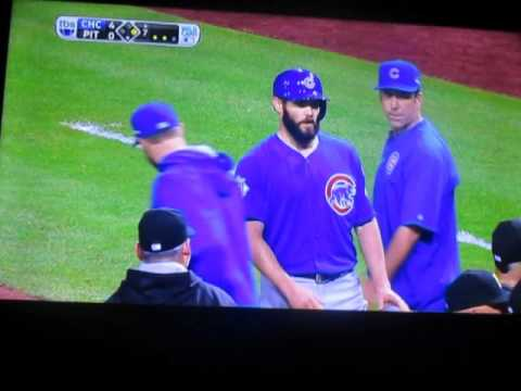 benches clear in NL Wild card game 2015 Pirates vs. Cubs