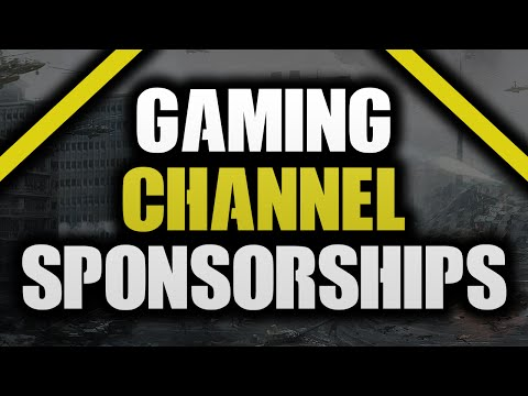 How To Get A GAMING Sponsorship On YouTube!