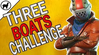 Search Between Three Boats Location Challenge | Fortnite Battle Royale | Battle Pass Season 3 Week 8