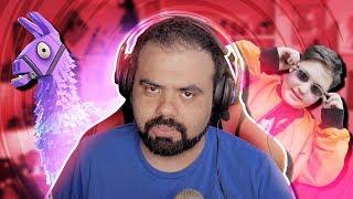 O GORDINHO E A LHAMA - FORTNITE ABSURDO com Coelho e Felps