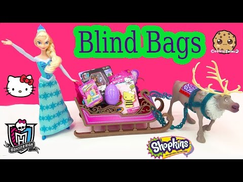 Queen Elsa Sled Blind Bag Unboxing From Littlest Pet Shop, Shopkins Season 2 + More