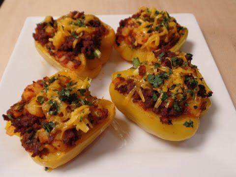 Chorizo and Potato Stuffed Bell Peppers