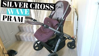 SILVER CROSS WAVE PRAM AND PUSHCHAIR REVIEW - IN THE COLOUR CLARET