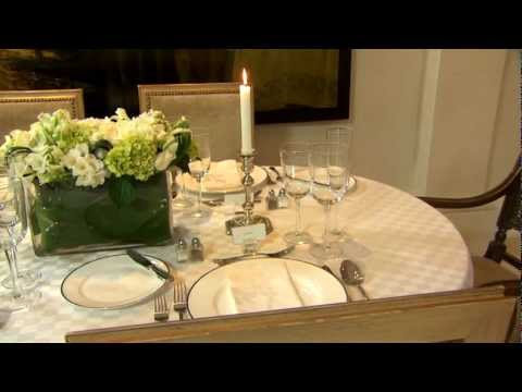 How to Set a Formal Dining Table - Part 1