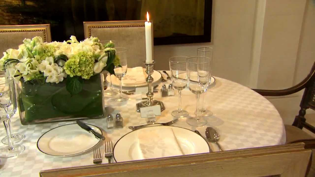 how to set a formal dining table part 1 youtube. Black Bedroom Furniture Sets. Home Design Ideas