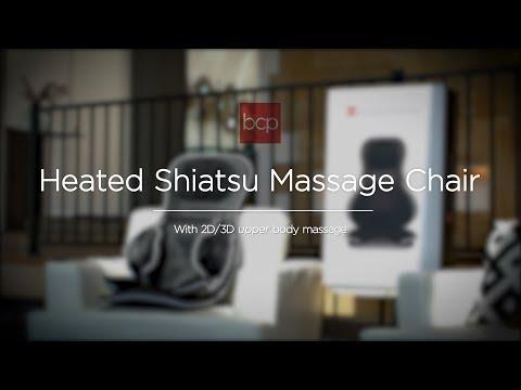 SKY5467 Heated 2D/3D Shiatsu Neck & Back Massage Chair w/ Adjustable Air Compression