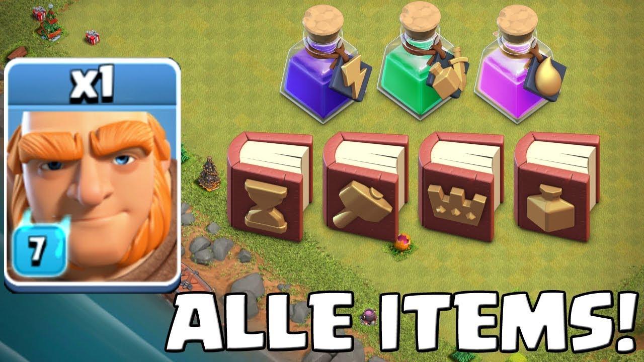 Clash Of Clans Alle Magischen Items Youtube