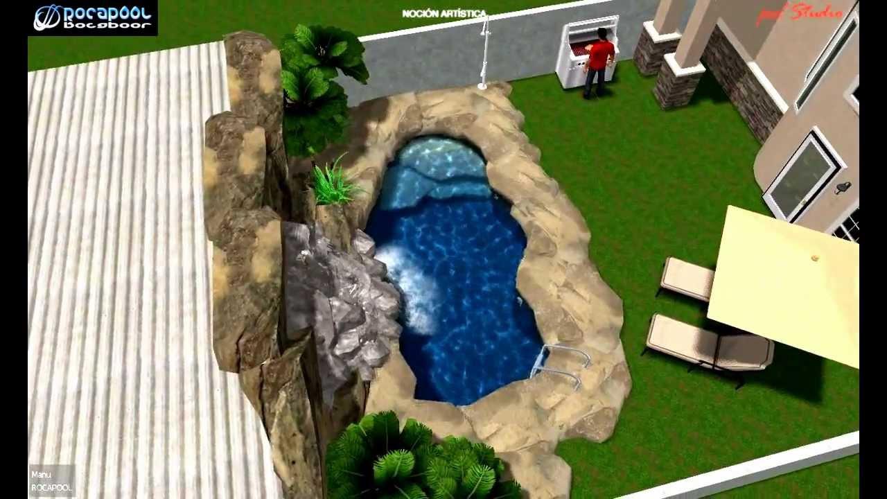 Dise os de piscinas con rocas artificiales youtube for Disenos de quinchos con piscinas