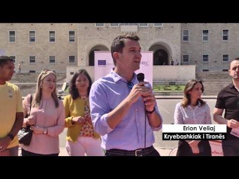 Report TV - ''Pedalo për në punë'',Veliaj: Mjetet alternative përmirësijnë ajrin