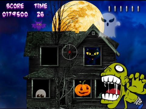 haunted house shooting gallery halloween game