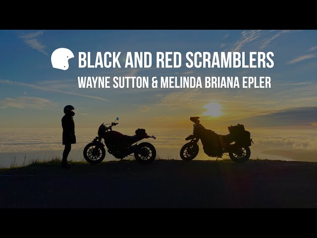 Black and Red Scramblers Youtube Motovlog Channel Preview Video