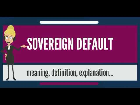 What is SOVEREIGN DEFAULT? What does SOVEREIGN DEFAULT mean? SOVEREIGN DEFAULT meaning