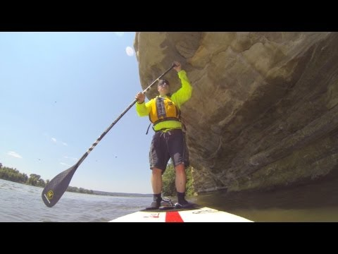 Stand Up Paddle Illinois River, Starved Rock State Park, Ottawa Illinois.