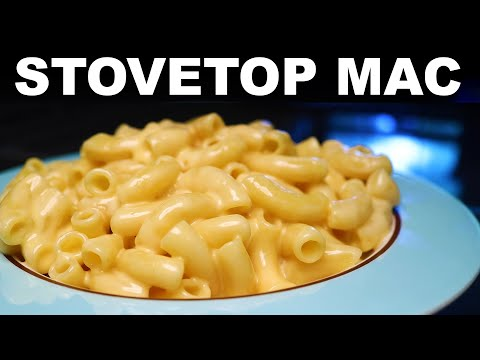 Silky stovetop mac & cheese with crunchy topping
