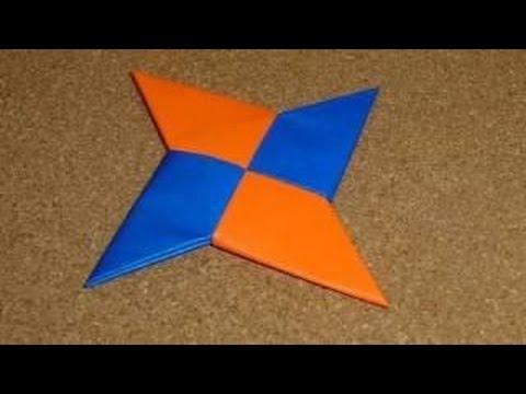 Como hacer una estrella ninja de papel youtube - Origami de una estrella ...