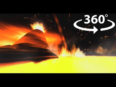 360° Volcano Explosions – Virtual Reality #360 VR video