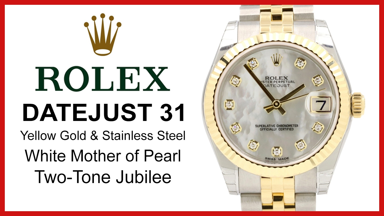 5552ce02434 ▷ Rolex Datejust 31 Mother of Pearl Diamond Dial