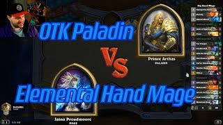 Elemental Hand Mage vs OTK Paladin - Hearthstone