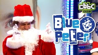 CBBC: Blue Peter - Record breaking Santa suit challenge!