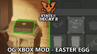State of Decay 2 - OG Xbox Easter Egg Mod! (Lounge Facility)