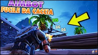 Ho THE AIMBOT on the CACCIA FUCILE! Absurd! FORTNITE ITA