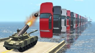 Beamng drive - Cars Domino effect Crashes, Jumps #3 (domino effect crashes)