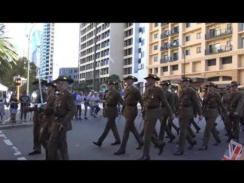 2019 ANZAC MARCH Perth Western Australia