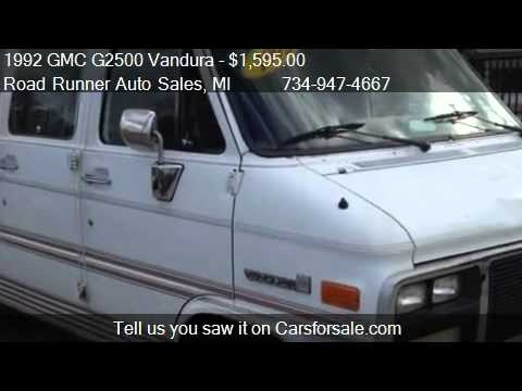 Road Runner Auto Sales Taylor >> 1992 GMC G2500 Vandura - for sale in Taylor, MI 48180 - YouTube