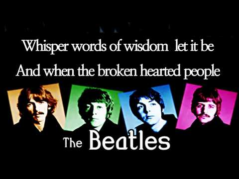 Let It Be / The Beatles (with Lyrics)
