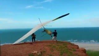 Hang gliding | Epic fail take off