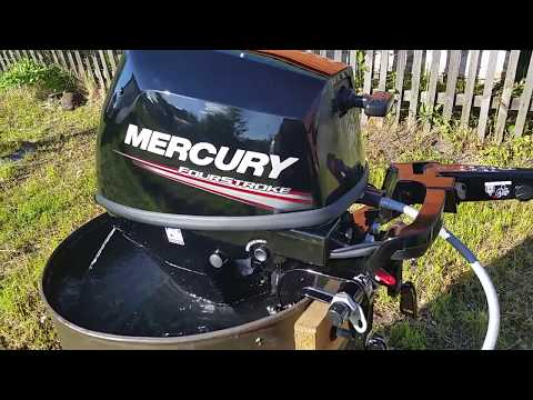 Обкатка лодочного мотора MERCURY ME9.9MH 4S
