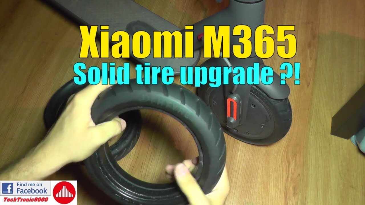 xiaomi m365 solid tire upgrade youtube. Black Bedroom Furniture Sets. Home Design Ideas