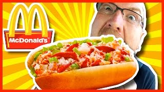 McDonald's McLobster Sandwich Review + Drive Thru test - (1st time trying the McLobster)