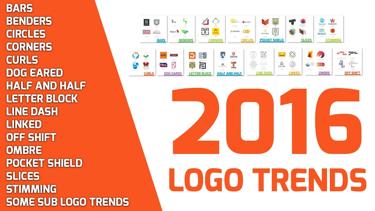Design Trending Inspiration: 2016 Logo Design Trend And Inspiration For Your Next Level