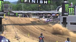 MXGP of Italy 2013 - Tonkov Crash at Finish - Motocross