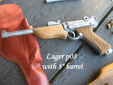 wooden Luger p08 homemade replica (finished)