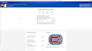 What a Ticketmaster Presale looks like on a desktop computer