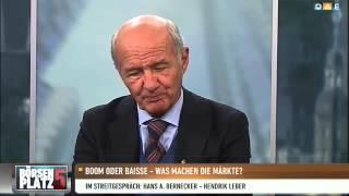 TV-Duell Bernecker-Leber: Banken bieten das größte Po