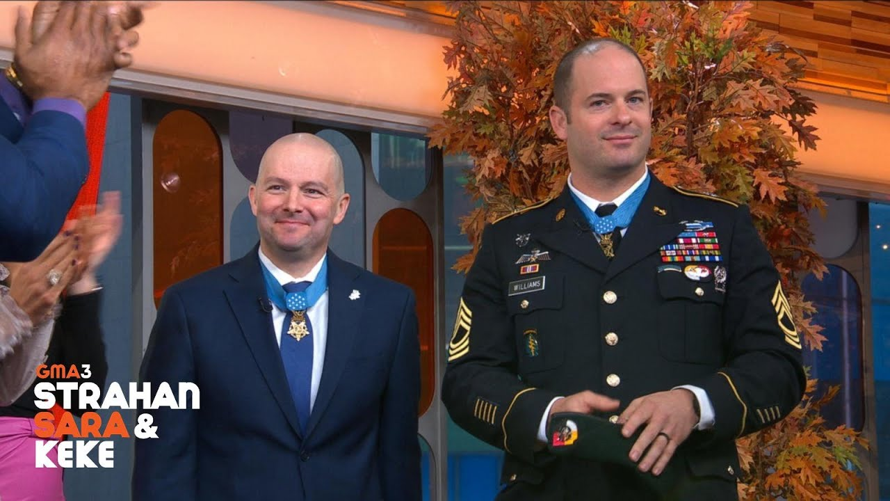 Medal of Honor recipients Matthew Williams and Ronald Shurer II