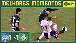 BAHIA 1X1 PALMEIRAS - Melhores Momentos - Brasileirão 2020 (29/08)