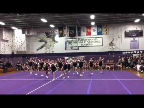 Wells, ME cheer compotition, Marshwood Middle School