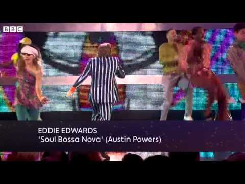 """Eddie """"the Eagle"""" Edwards Does Austin Powers - Let's Dance for Sport Relief 2012 - BBC One"""