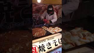 【神業】行列のできる肉焼きそば(屋台)2019.2.19田村神社