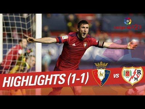 Resumen de Osasuna vs Rayo Vallecano (1-1)
