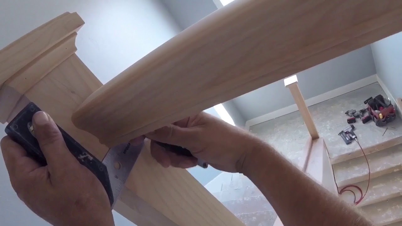 Wood Handrail with Iron Balusters Part 2